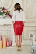 skirt-leather-red-back