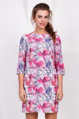 Платье Цветы Акварель