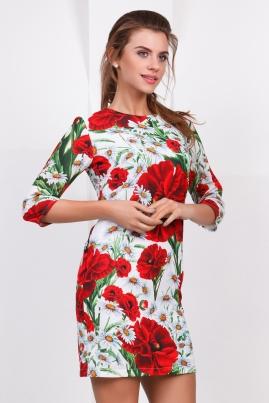 Платье Маки и ромашки