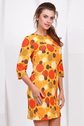 Платье Оранжевые круги