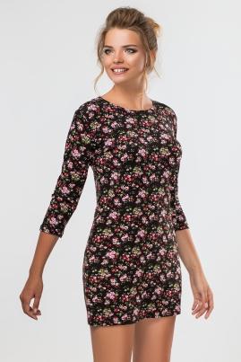 Прямое платье в цветочек