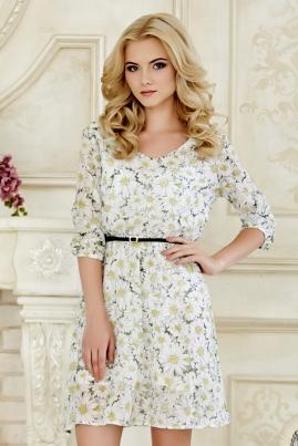 Платье Белые ромашки