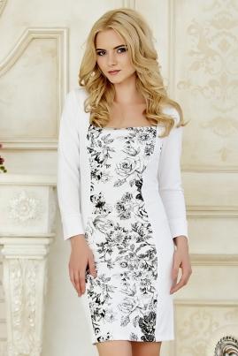 Платье Цветы на белом