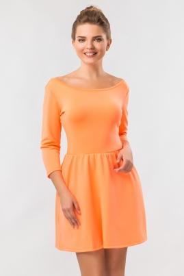 Платье Скейтер неонового цвета