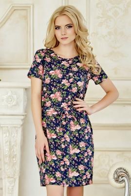 Платье-футболка в цветочек