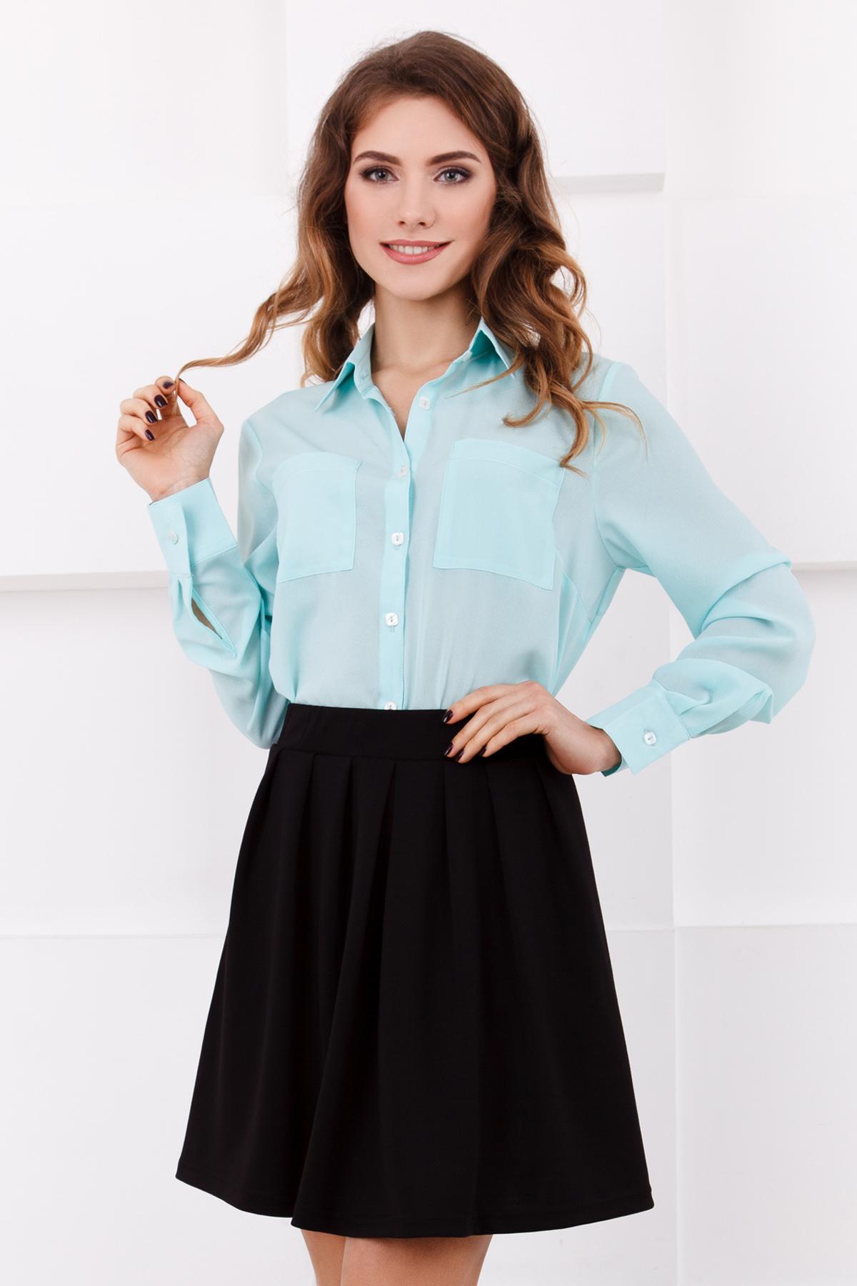 Шифоновая блузка мятного цвета
