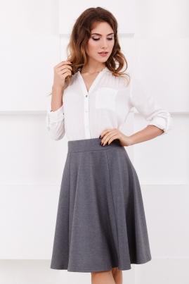 Серая юбка с клиньями
