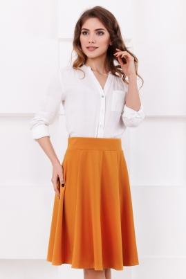 Горчичная юбка с клиньями