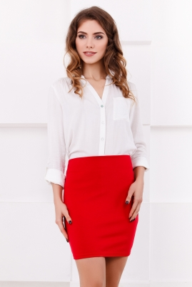 Красная мини-юбка