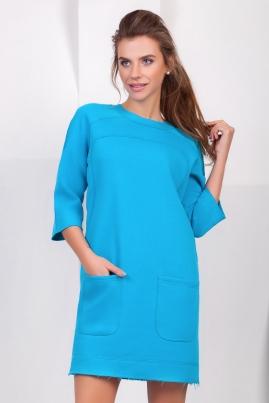 Теплое платье с необработанными краями
