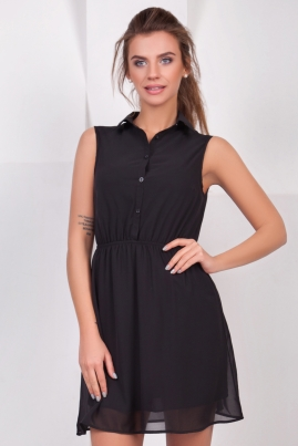 Шифоновое платье-рубашка