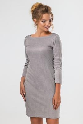 Платье-футляр серого цвета