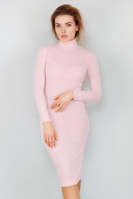 Платье гольф розового цвета