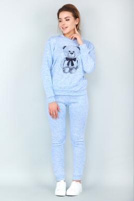 Спортивный костюм Мишка (голубой)
