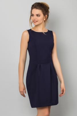Темно-синее платье без рукавов