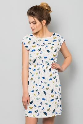 Платье Бабочки на белом