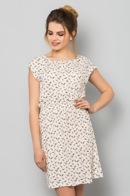 Платье Попугаи на белом