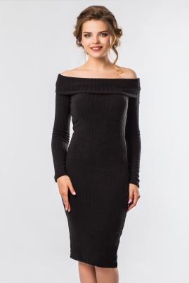 Платье-хомут черного цвета