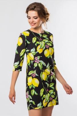 Платье Лимоны на черном