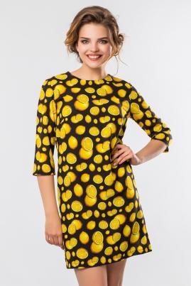 Платье Лимонный принт