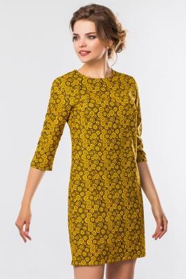 Платье Желтые узоры