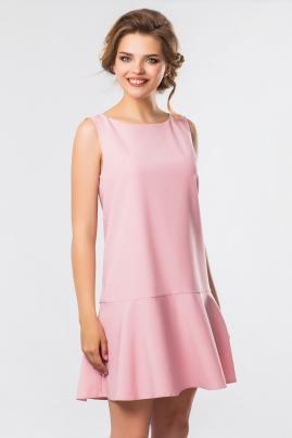 Платье без рукавов с оборками