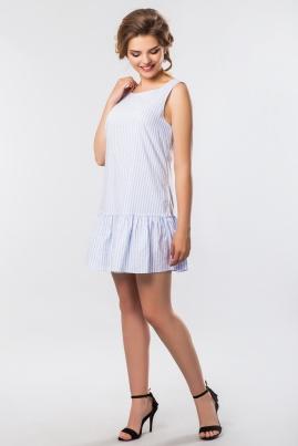 Платье в крупную полоску без рукавов
