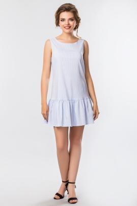 Платье в мелкую полоску без рукавов
