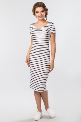Платье-футболка в черную полоску