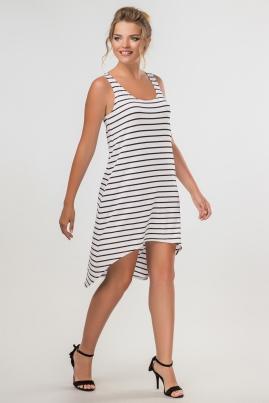 Полосатое платье с ассиметричным низом