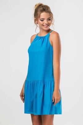 Бирюзовое платье с завязками