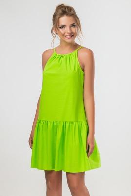 Салатовое платье с завязками