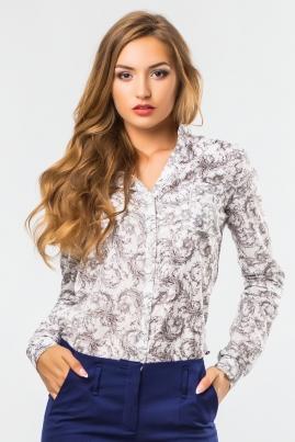 Блузка на стойке с узором