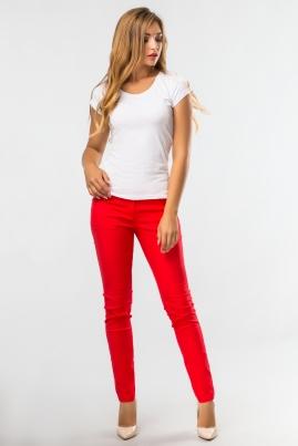 Красные обтягивающие брюки