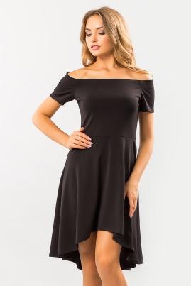 Черное платье с открытыми плечами Неаполь