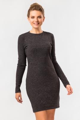 Темно-серое платье из ангоры