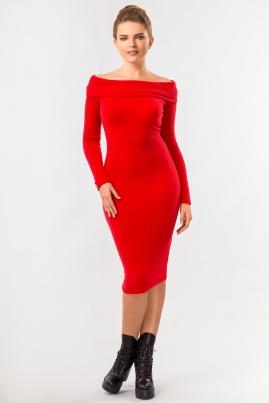 Платье хомут красного цвета