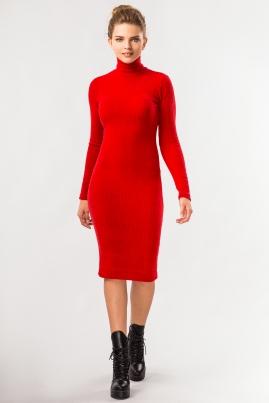 Платье гольф красного цвета