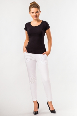Летние белые брюки со складками