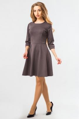 Платье с рельефами серое
