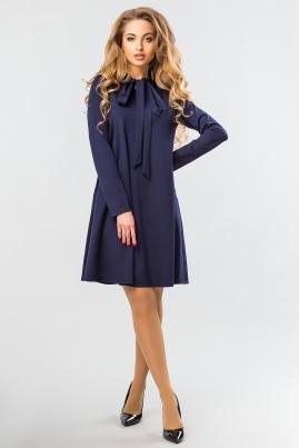 Темно-синее платье с завязками