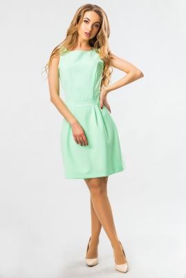 Платье без рукавов мятного цвета