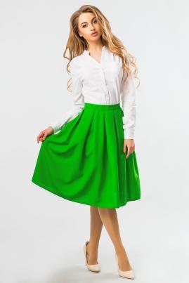 Юбка миди ярко-зеленого цвета