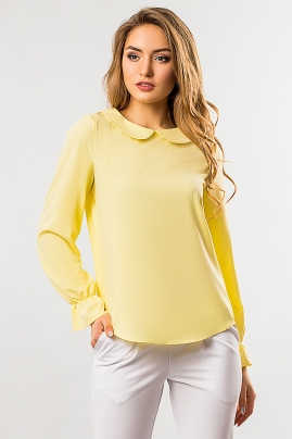 blouse-round-collar-yellow-color