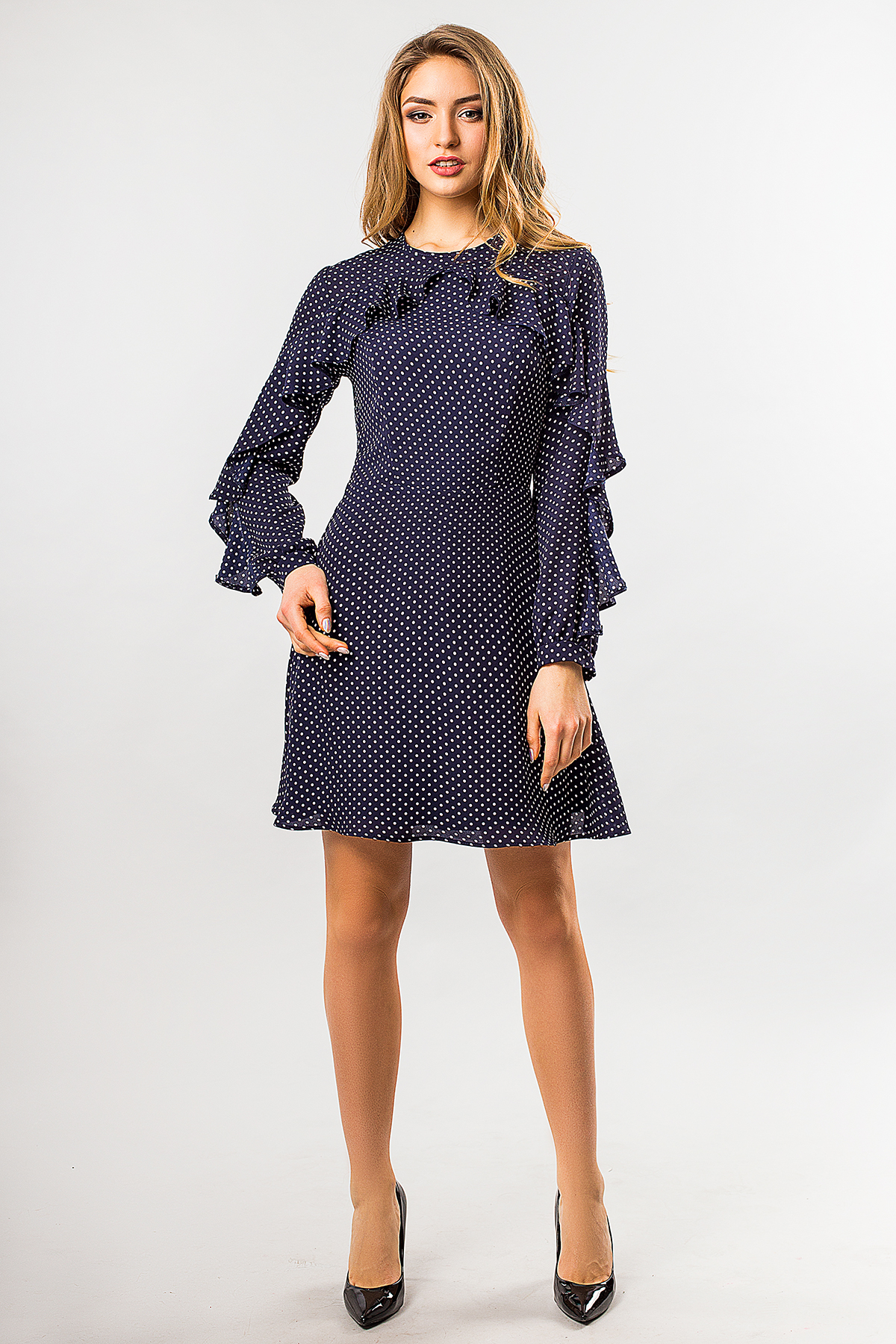 chiffon-dress-dot-dark-blue
