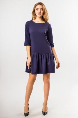 dark-blue-dress-frill-bottom