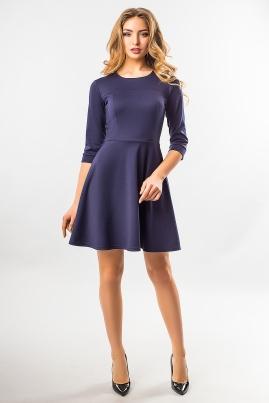 Темно-синее платье с рельефами
