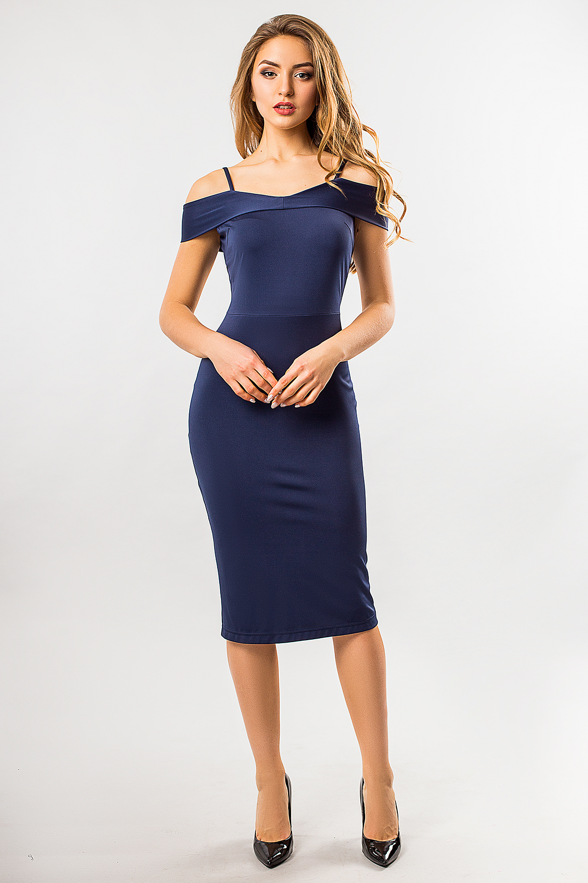 dark-blue-dress-shoulder-straps
