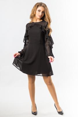 black-chiffon-dress-with-ruffles