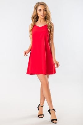 Красное платье с бантом на спине